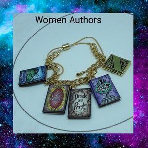 Women in Literature Charm Bracelet w/ Book Locket